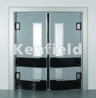 K250 GRP Retail Swing Door: Teardrop bumper impact protection