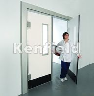 K250 GRP Retail Swing Door: Kick plate impact protection