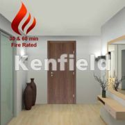 Walnut Veneer Interior Flush Doors